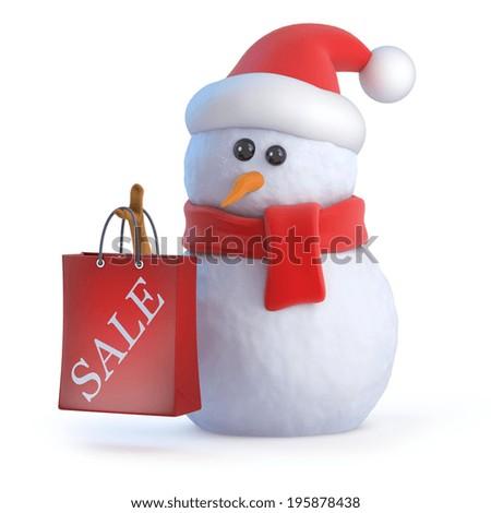 Santa Claus And Snowman Snowman in Santa Claus Hat