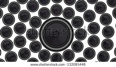 3d render of a speaker made up by speakers - stock photo