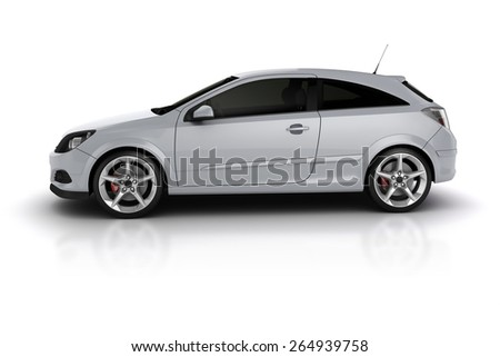 3d render of a sport car on white background - stock photo