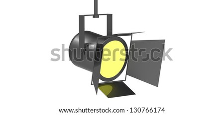 3d render of a Spotlight - stock photo