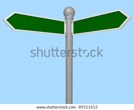 3d Render of a Street Sign Close Up