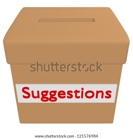 3d Render of a Suggestion Box - stock photo