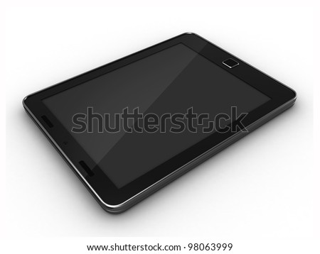 3D render of a tablet pc