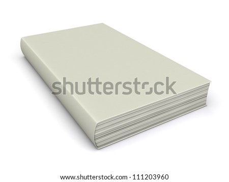 3d render of a thick white book in a soft cover