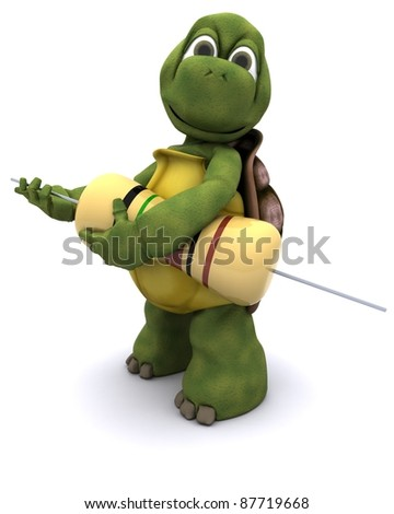 3d render of a Tortoise with resistor