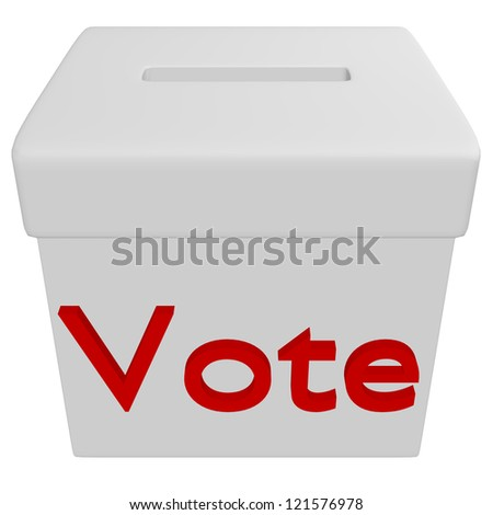 3d Render of a Voting Box - stock photo