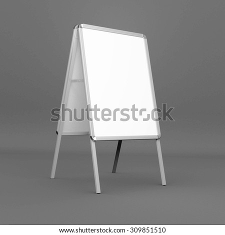 3d render of a white advertising stand - stock photo