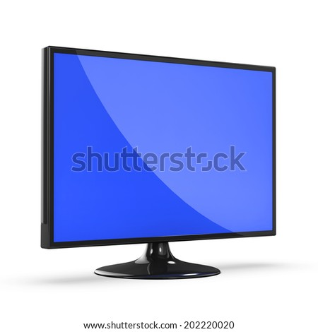 3d render of a wide screen LCD television monitor