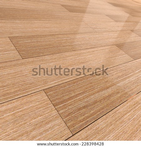 3d render of a wooden tiled  floor - stock photo