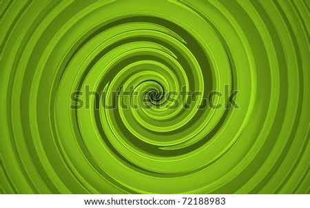 3d render of abstract green whirl