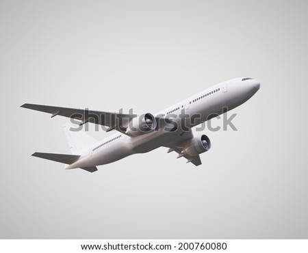 3d render of  airplane on white background - stock photo