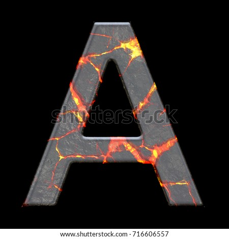 Volcano engraving stock images royalty free images vectors 3d render of alphabet letter with volcano cracks embellishment ccuart Image collections