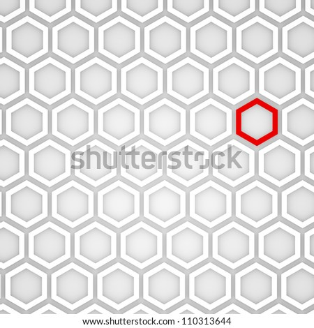 3d Render of an Abstract Hexagonal Background - stock photo