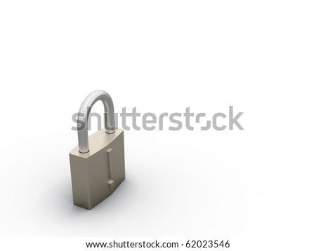 3d render of an closed padlock ( simmilar images...)