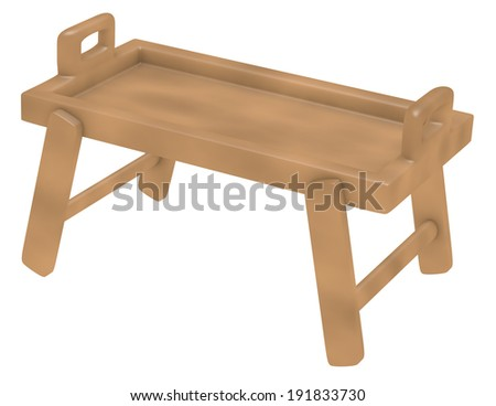 3d Render of an Empty Bed Tray - stock photo