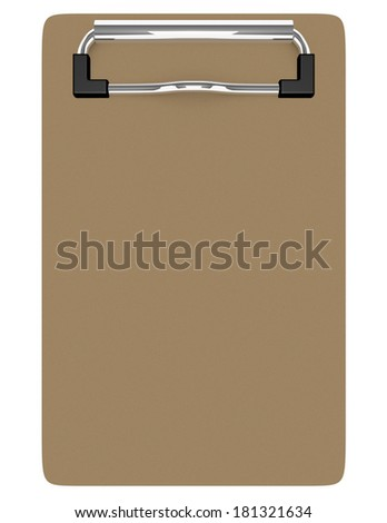 3d Render of an Empty Clipboard