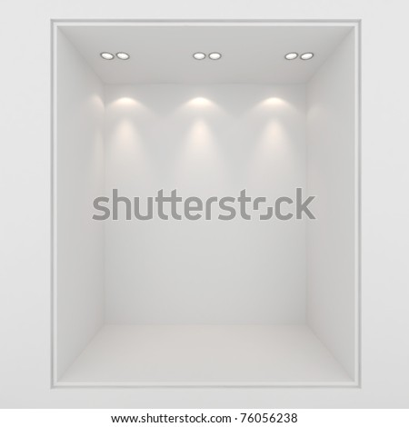 3d render of an empty presentation showase