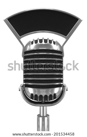 3d render of an old radio microphone - stock photo