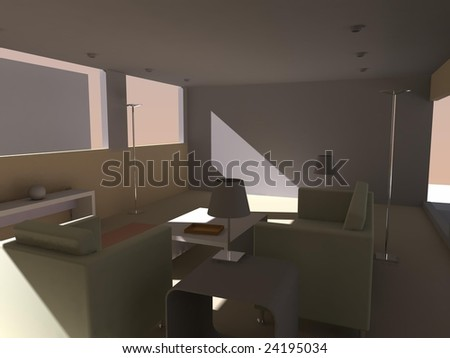 3d render of appartment intirior