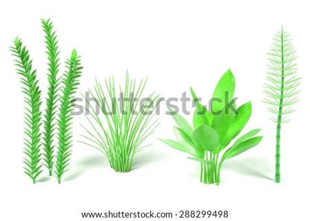 3d render of aquatic plants - stock photo