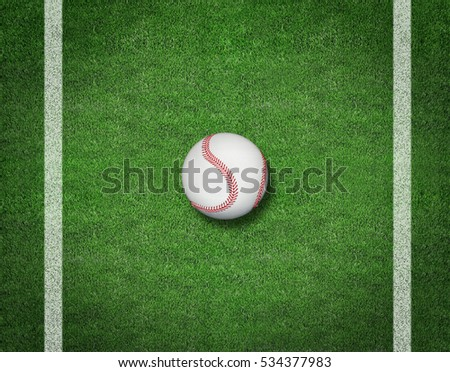 3d render of Baseball on the Field. Sport background