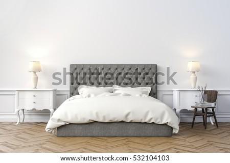 3d render of beautiful bedroom - Beautiful Bed Frames