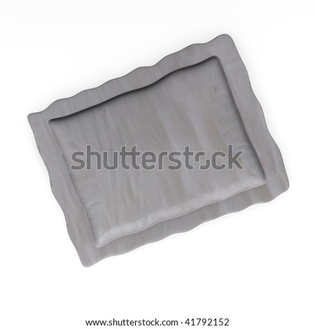 3d render of bed pillow