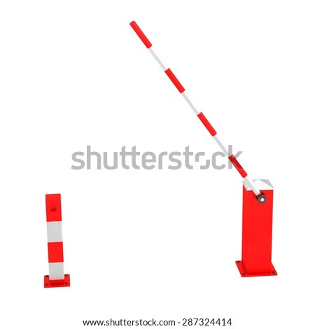 3d render of boom gate - stock photo