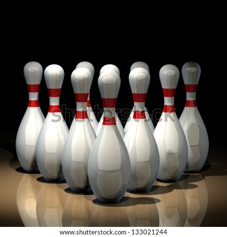 3d render of bowling isolated on black background. High resolution - stock photo