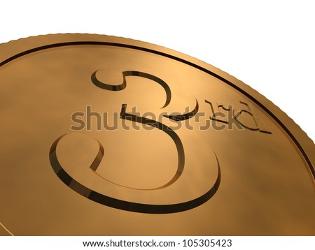 3d render of bronze medal