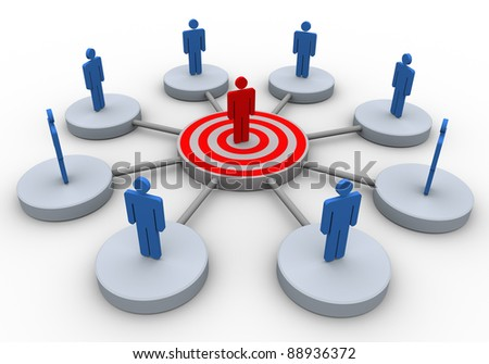 3d render of business people network - stock photo