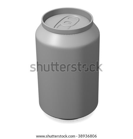 3d render of can for drink