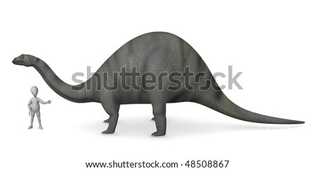3d render of cartoon character with dino