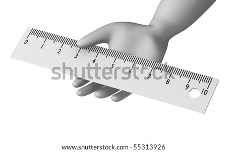 3d render of cartoon character with ruler