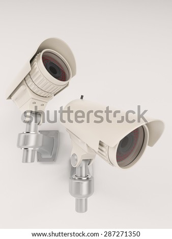 3D Render of CCTV Security Camera - stock photo