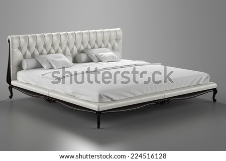 3d render of classic bed in the oriental style