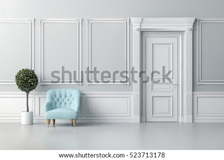 3d render of clean, beautiful interior room