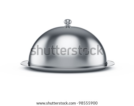 3d render of closed cloche, isolated on white background - stock photo