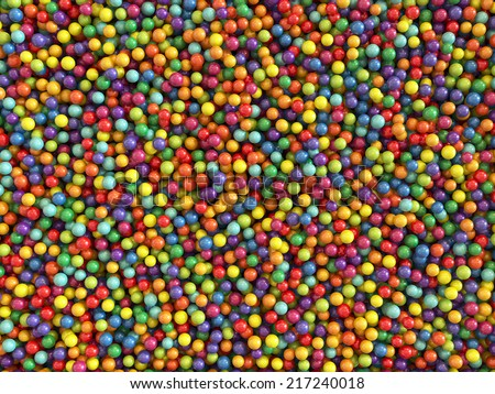 3d render of colorful balls set background - stock photo