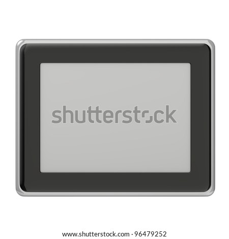 3d render of digital frame