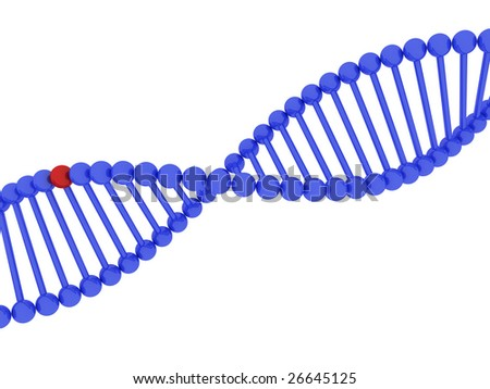 3d render of DNA on white background