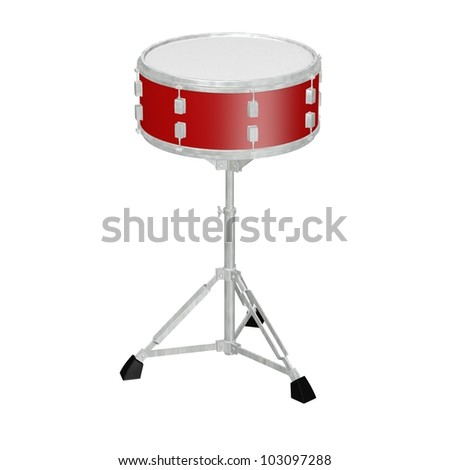 3d render of drum instrument - stock photo