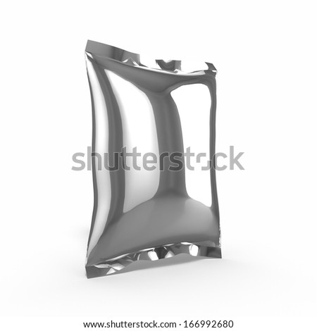 3d render of food bag for use as template - stock photo