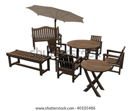 3d render of garden furniture - Garden Furniture 3d
