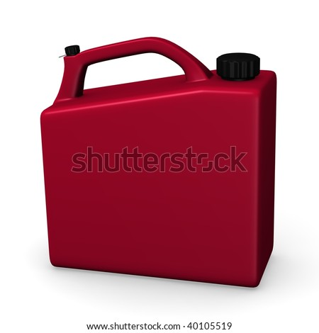 3d render of gas can