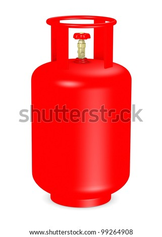 3d render of gas container