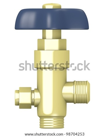 3d render of gas valve