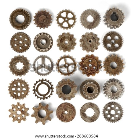 3d render of gear wheels - stock photo