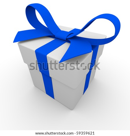 3d render of gift box - stock photo