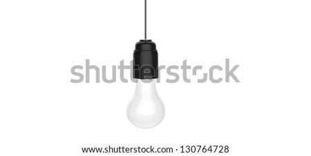 3d render of hanging light bulb - stock photo